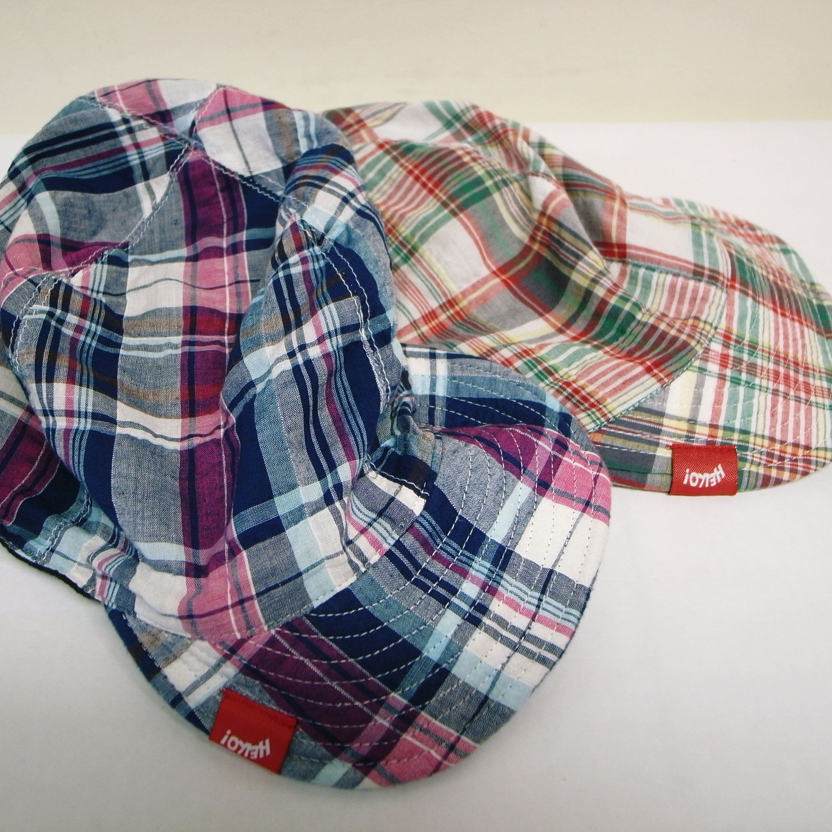 CHUMS MADRAS CHECK REVERSIBLE CAP