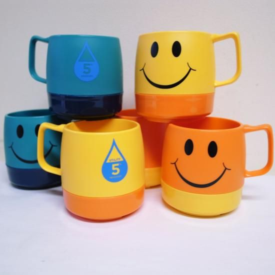5th Anniversary Waterdorop Logo & Smiley DINEX INSULATED CLASSIC MUG 2TONE