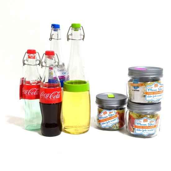 COOL GEAR Swing Top Bottle M& Masonjar Food Container