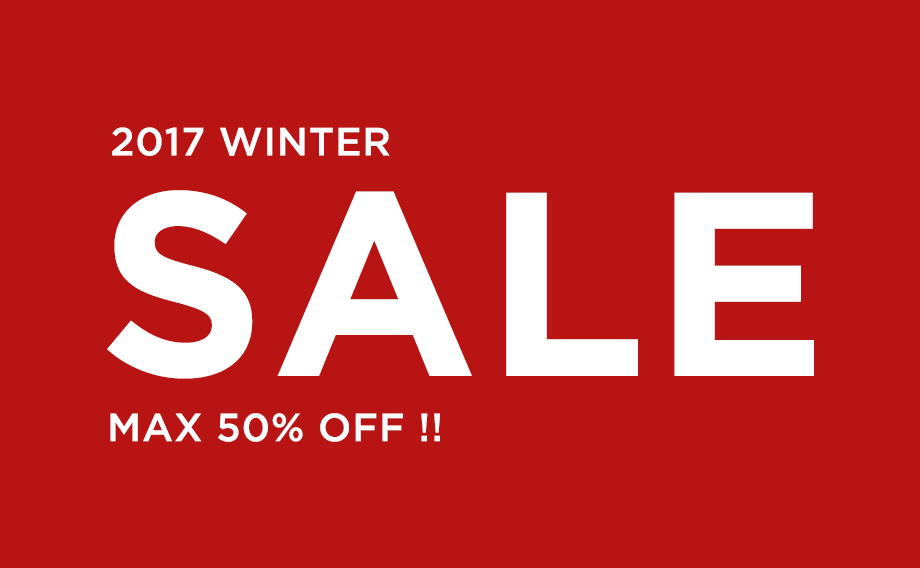 2017 WINTER SALE MAX 50%OFF !!