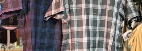 山と道 Only Hood & Merino Short Sleeve Shirt Check